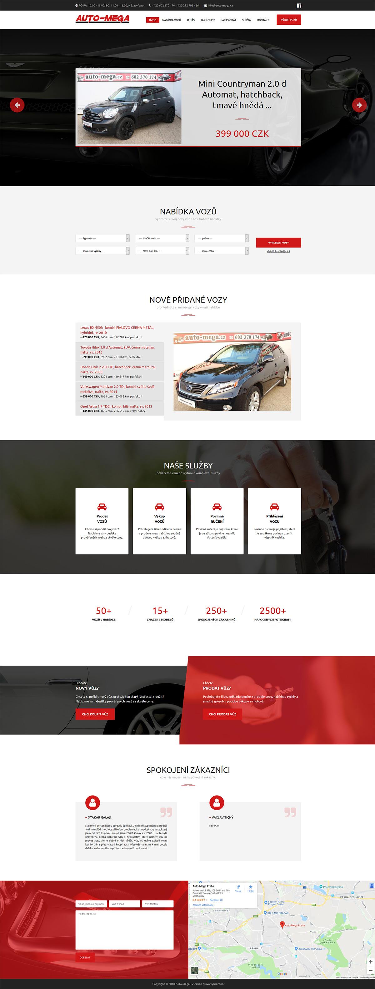 Nový responzivní web pro pražský autobazar