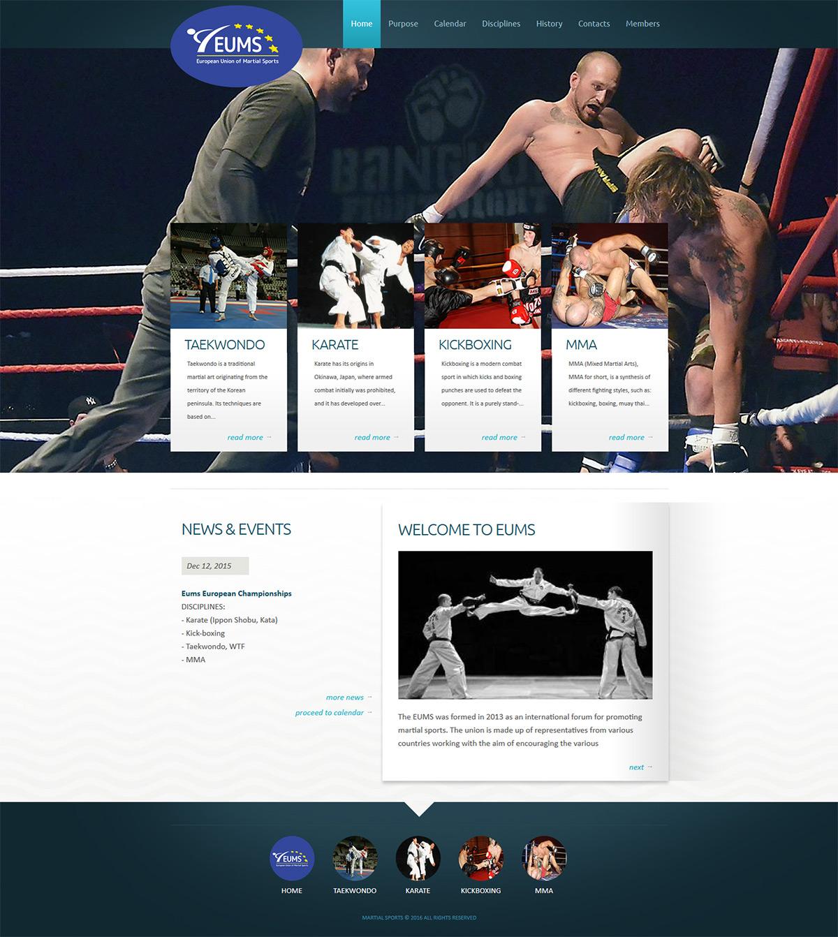 Informativní web bojových sportů