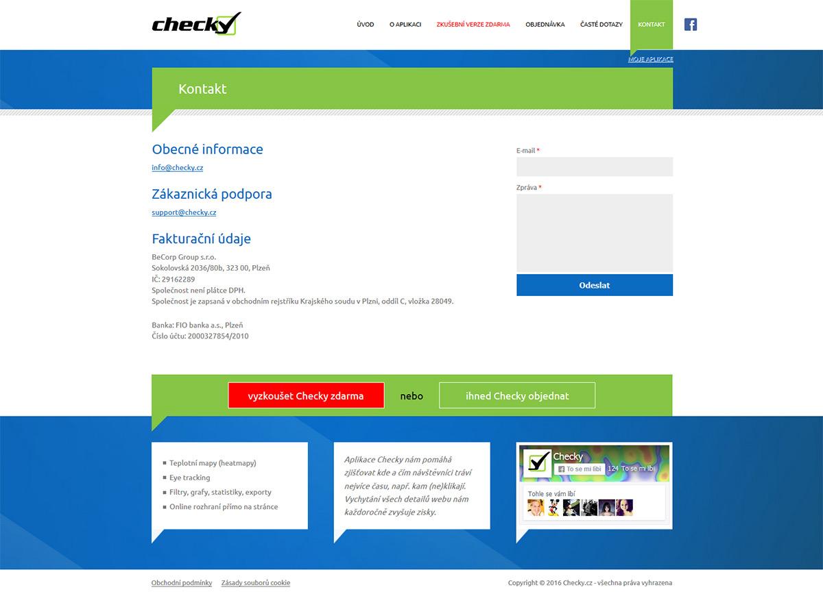 Moderní web prezentující online analytickou aplikaci