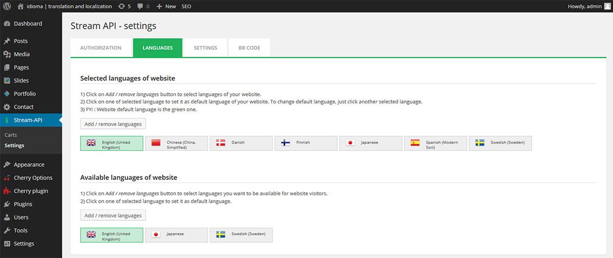 Wordpressový plugin pro překlady textů