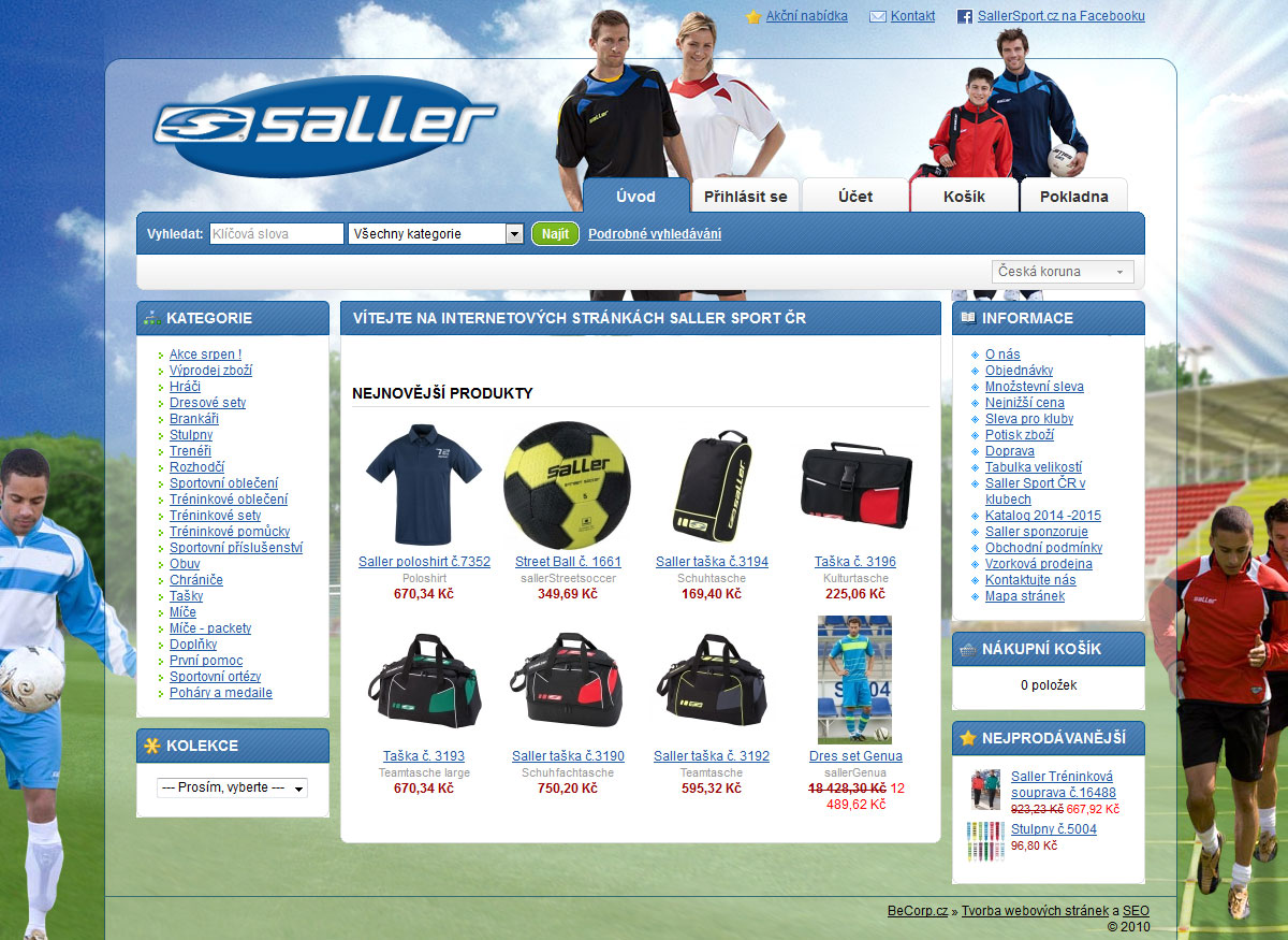 E-shop se fotbalovým vybavením
