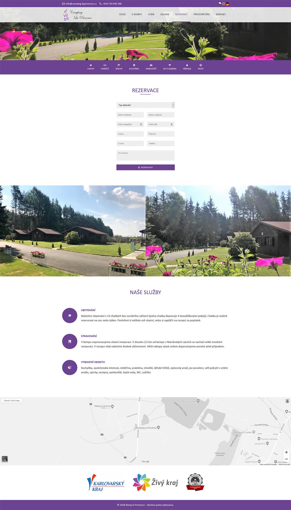 Vytvoření www stránky pro klidný kemp