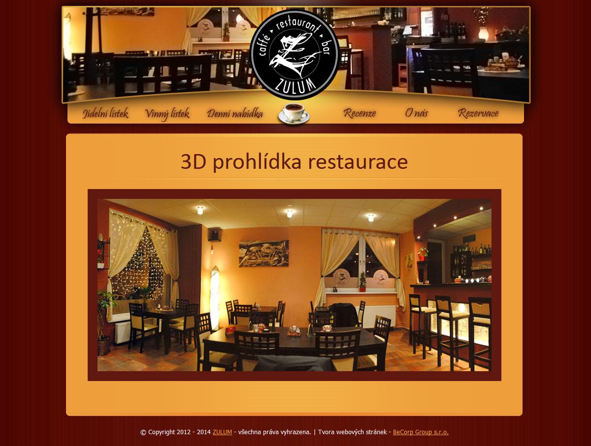 Tvorba www stránky pro plzeňskou restauraci