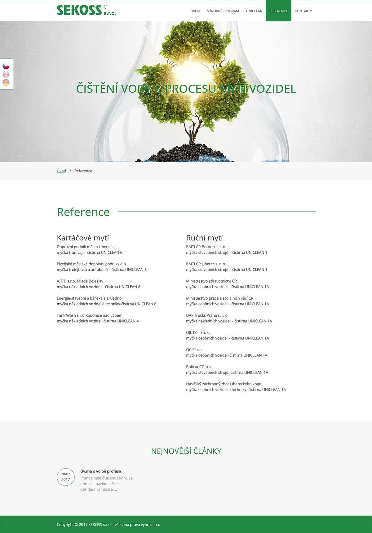 Redesign webu pro libereckou společnost