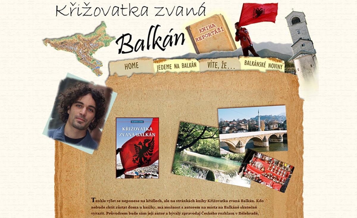 Unikátní web knihy Křižovatka zvaná Balkán
