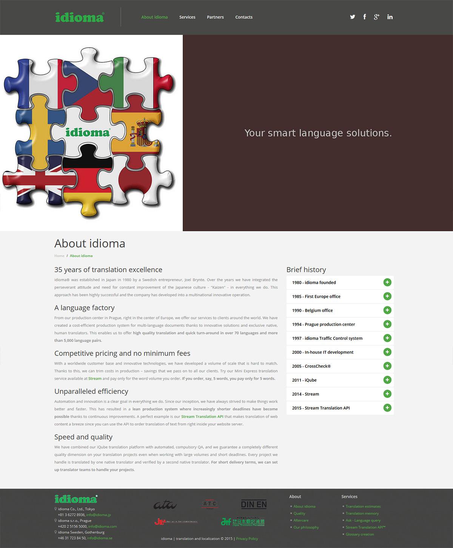 Kompletní redesign webu pro nadnárodní překladatelskou společnost
