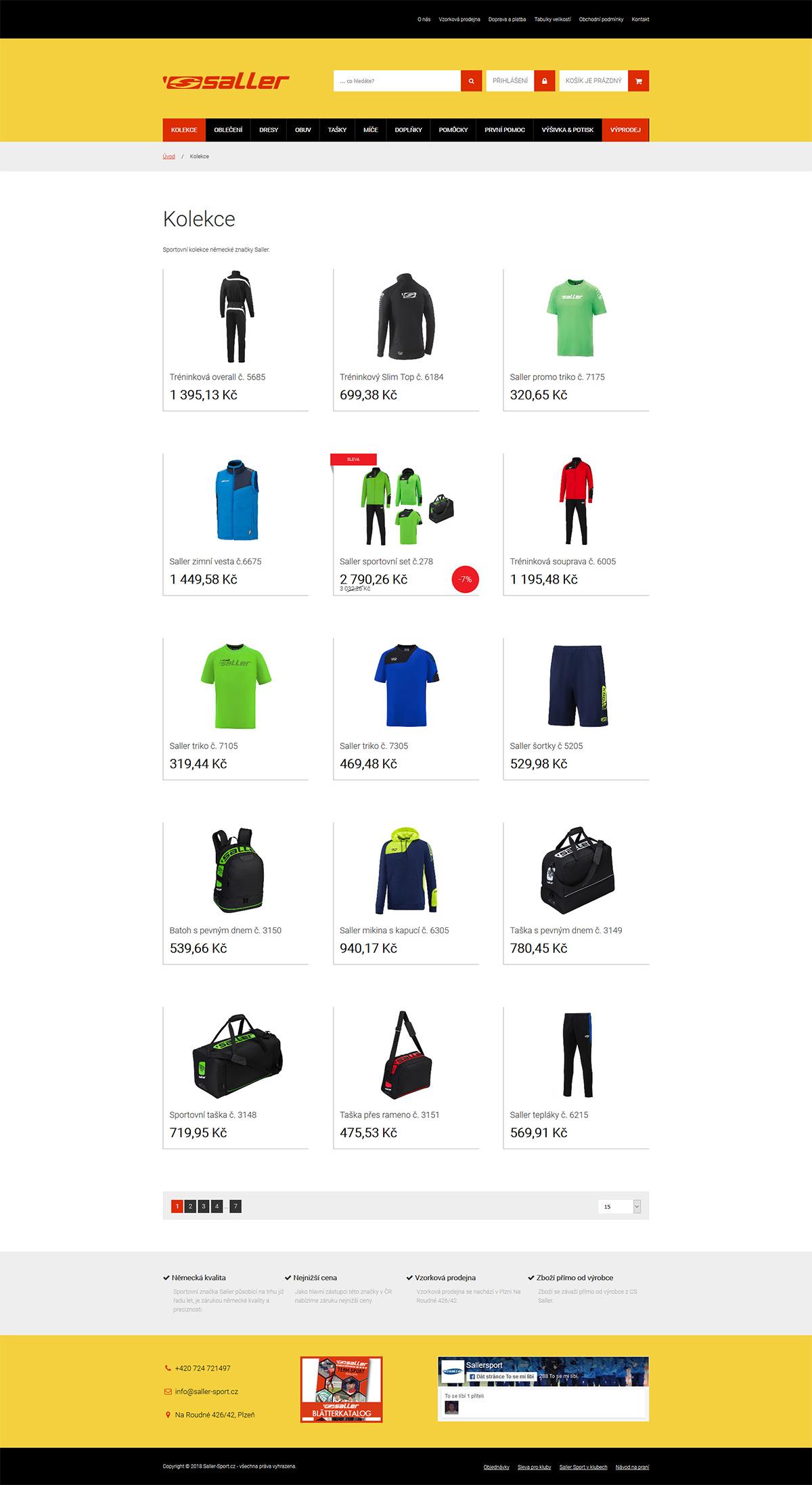 Zbrusu nový moderní e-shop se sportovním vybavením
