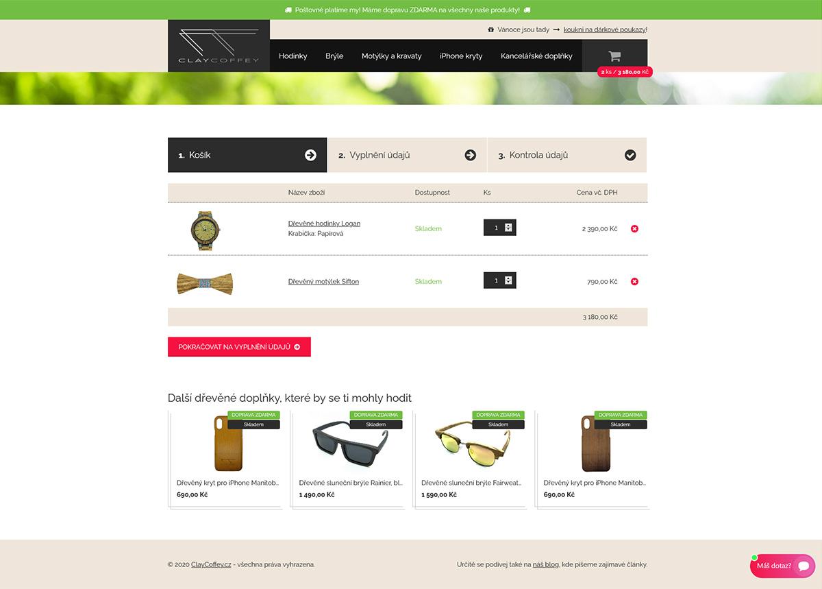 Výroba e-shopu se stylovými dřevěnými doplňky