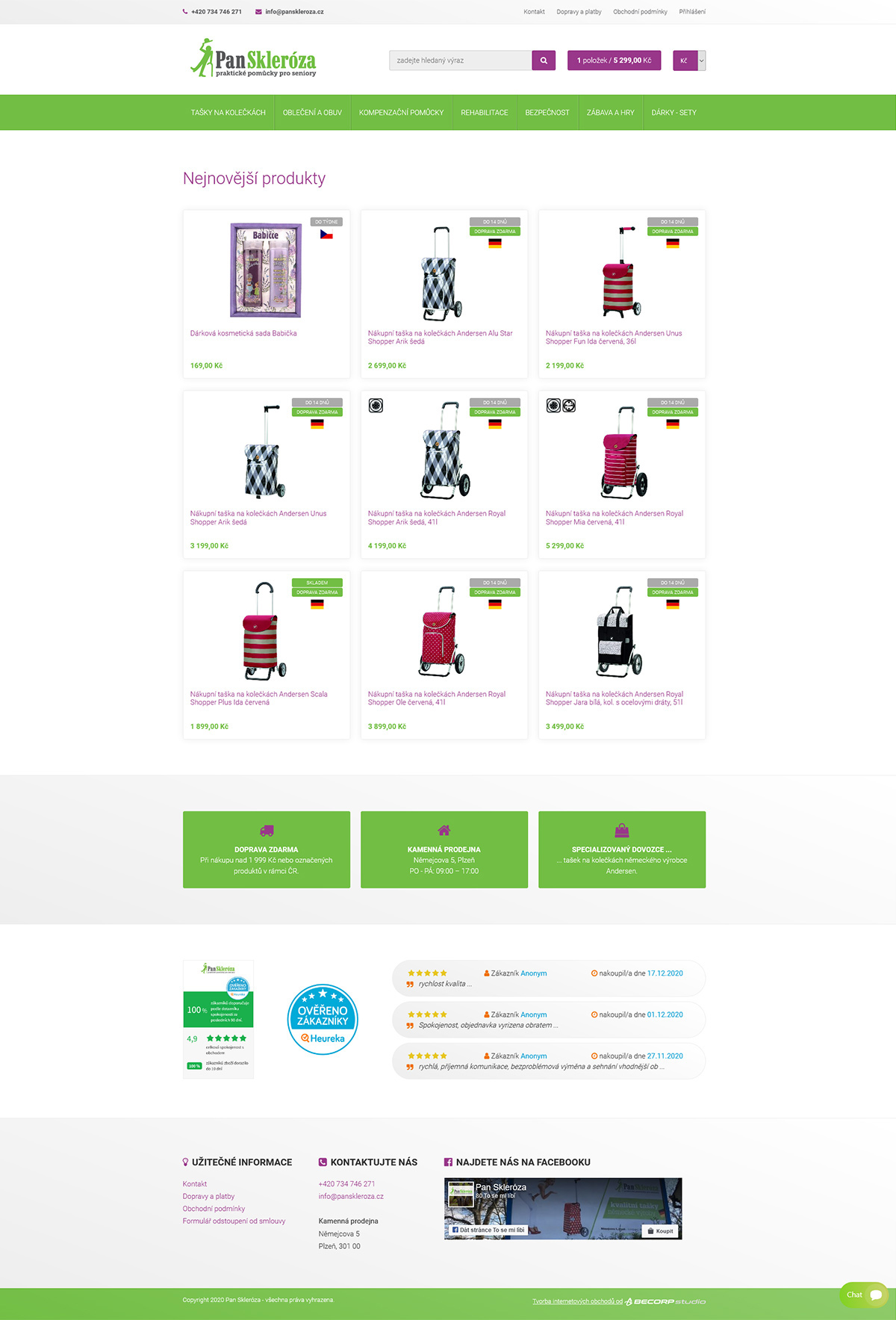 Kompletní redesign e-shopu s napojením na skladový systém