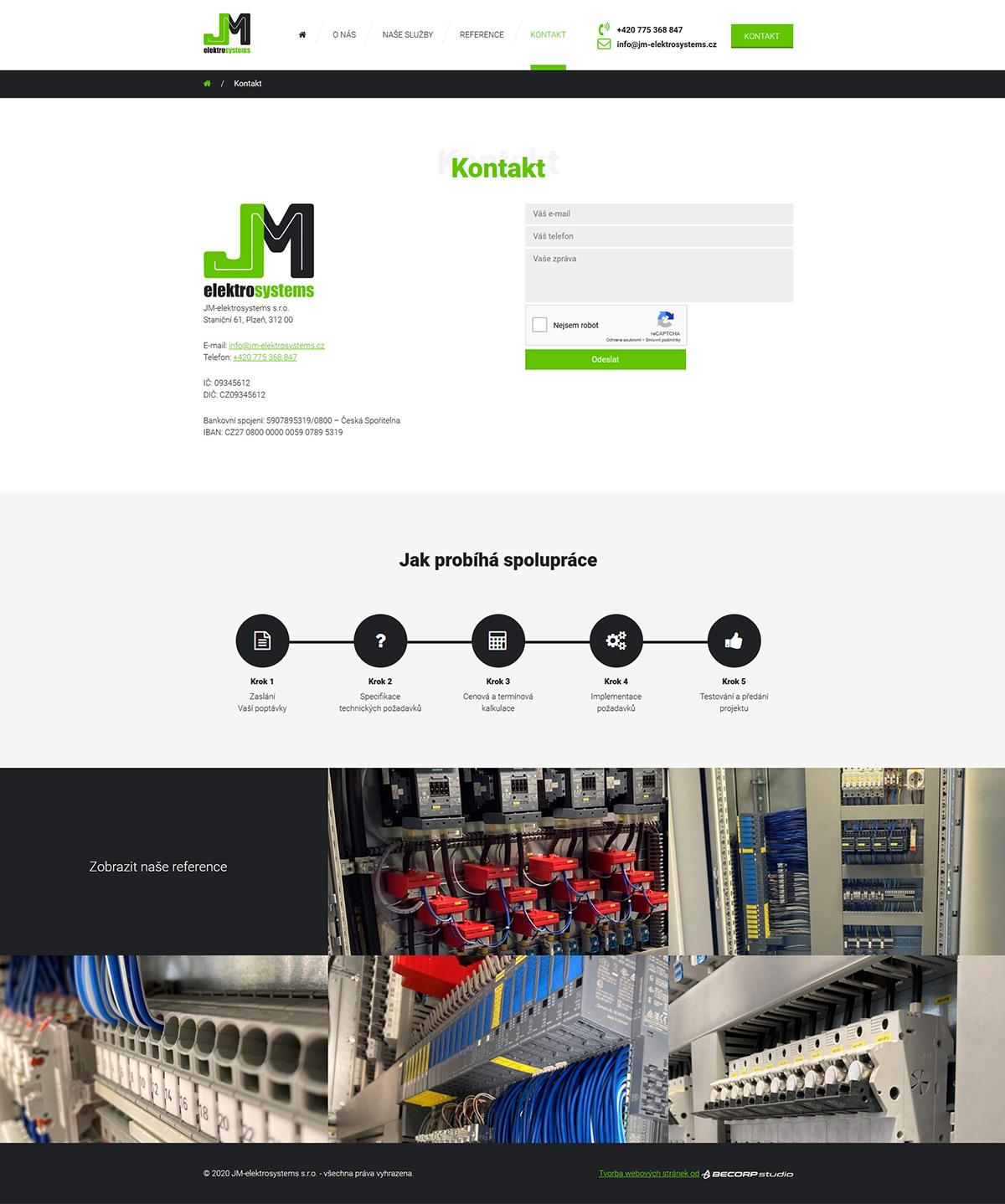 Tvorba menší responzivní www stránky pro plzeňskou firmu